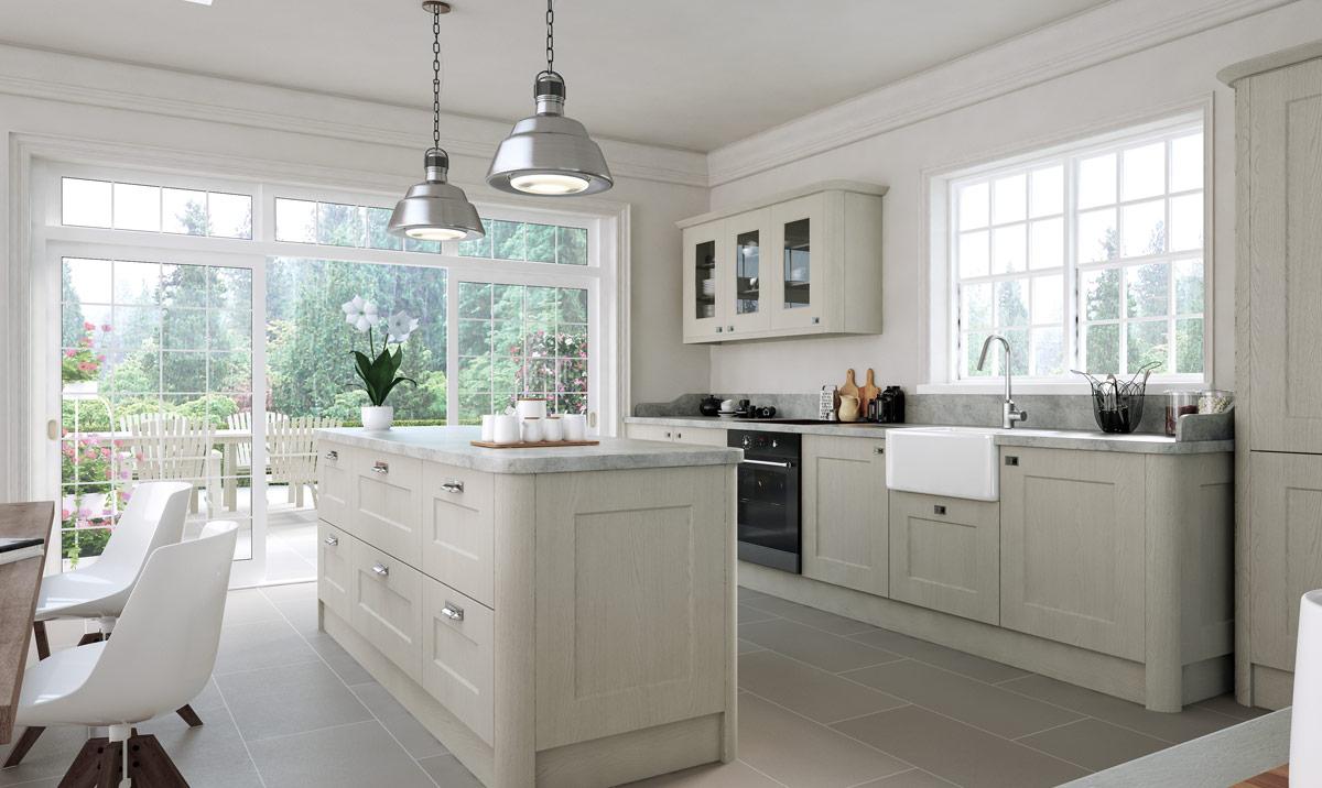 Bella Cambridge Oakgrain Grey Kitchen