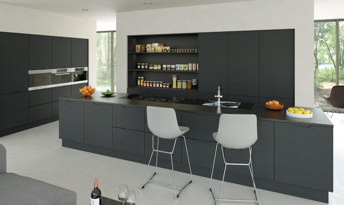 Bella Integra Matt Graphite Kitchen