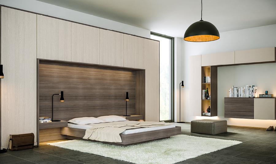 Bella Oakgrain Cashmere Avola Flint Grey Venice Bedroom