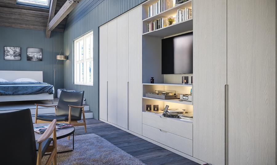 Bella Oakgrain Grey Integra Bedroom
