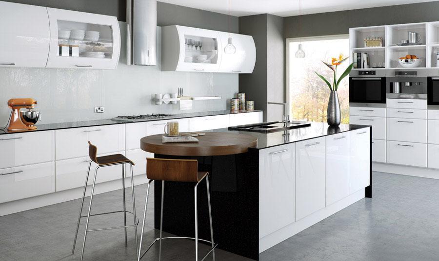 Bella High Gloss White Lincoln Kitchen