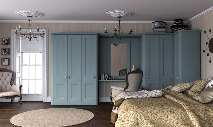 Bella Cambridge Tropez Blue Paintable Bedroom
