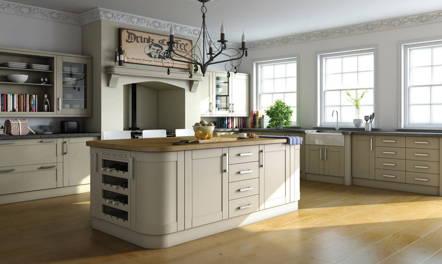 Bella Paintable Kitchen Cabinets White Lead Deep Shaker