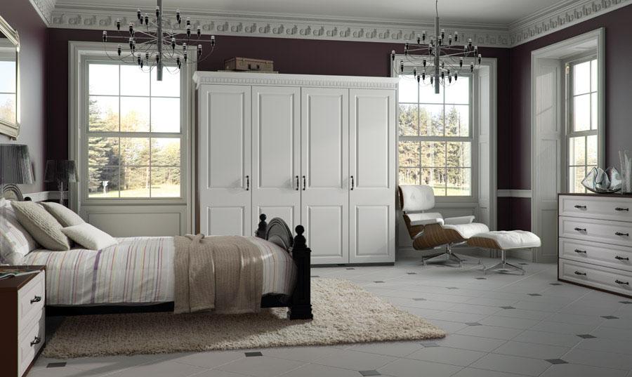 Bella Satin White York Bedroom