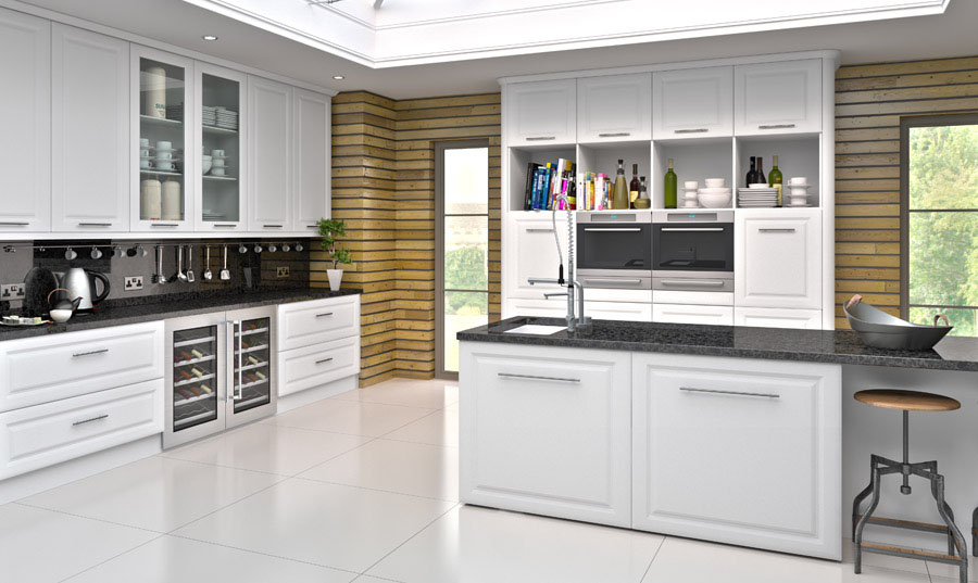 Bella Satin White York Kitchen