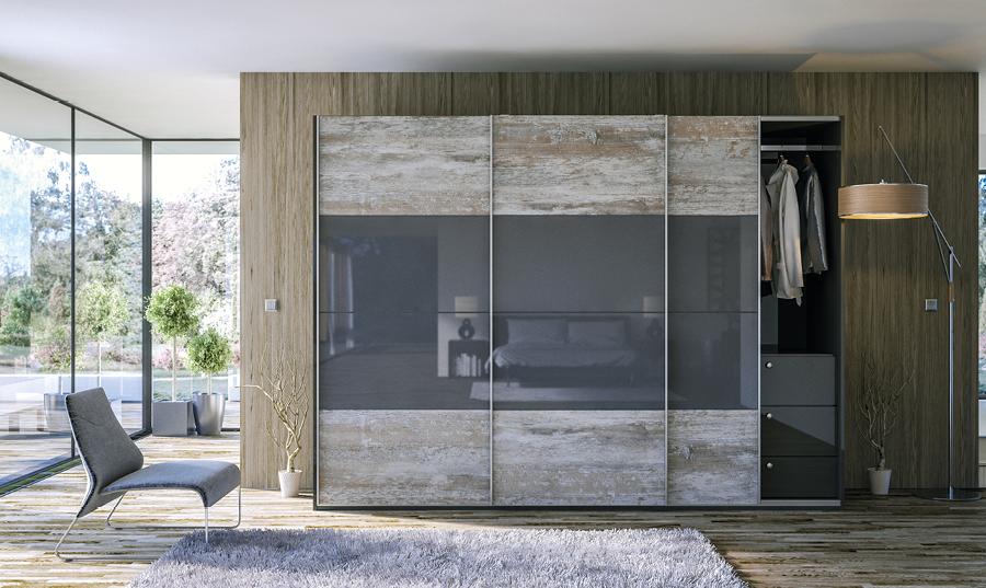 Glidor Driftwood Light Grey Ultragloss Metallic Anthracite Ultra D Bedroom