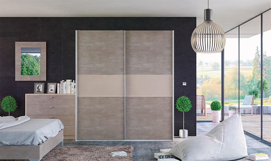 Glidor Light Concrete Cashmere Bedroom