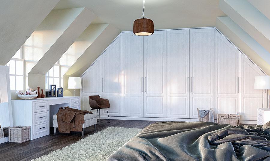Bella Palermo Opengrain White Dormer Bedroom
