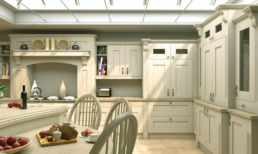 Pronto Oakgrain Cream Wilton Kitchen