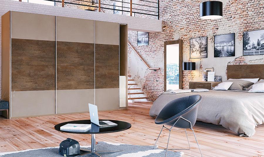 Glidor Stone Grey Grey Brown Metallo Bedroom