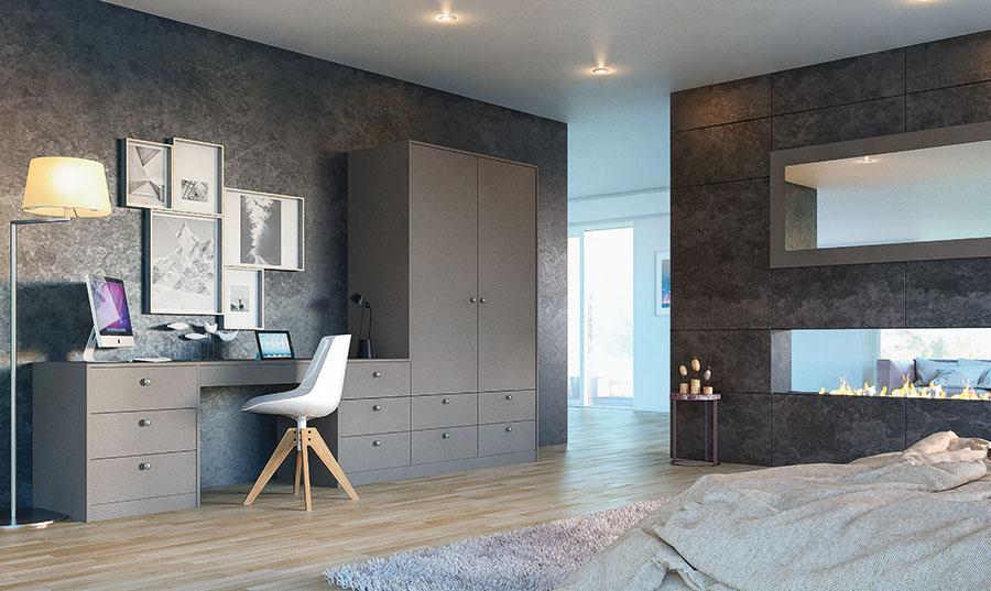 Zurfiz Ultramatt Metallic Basalt Home Office