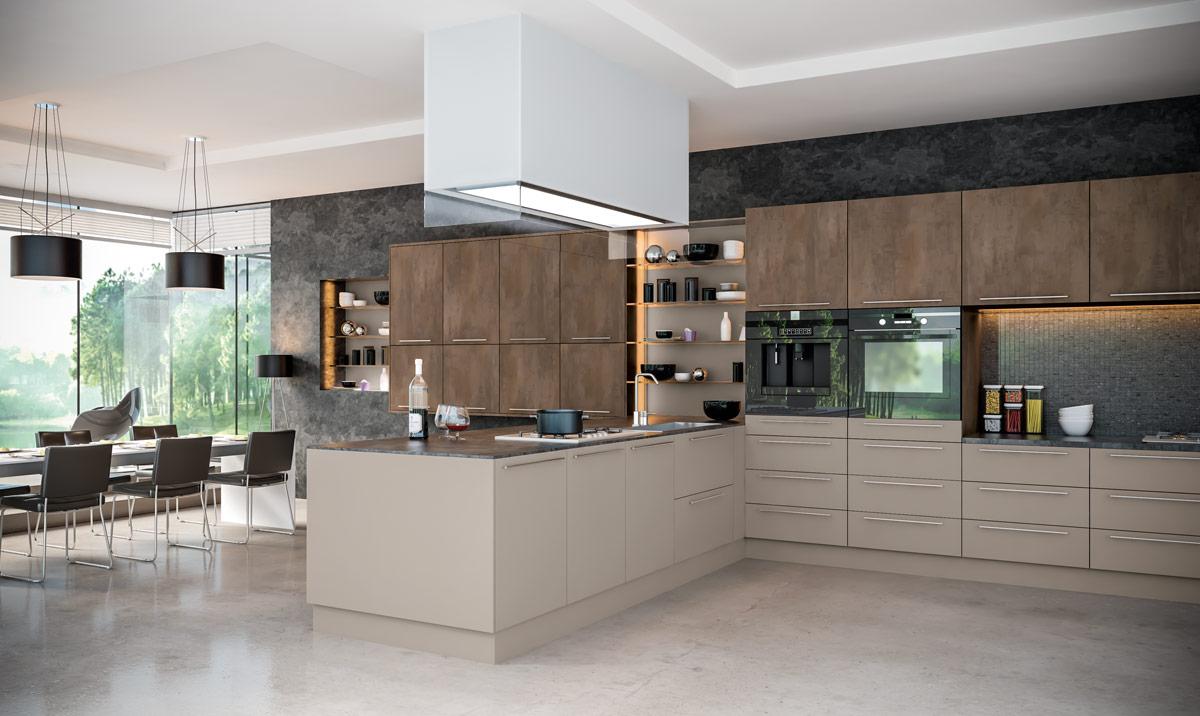 Valore Grey Brown Metallo Stone Grey Kitchen