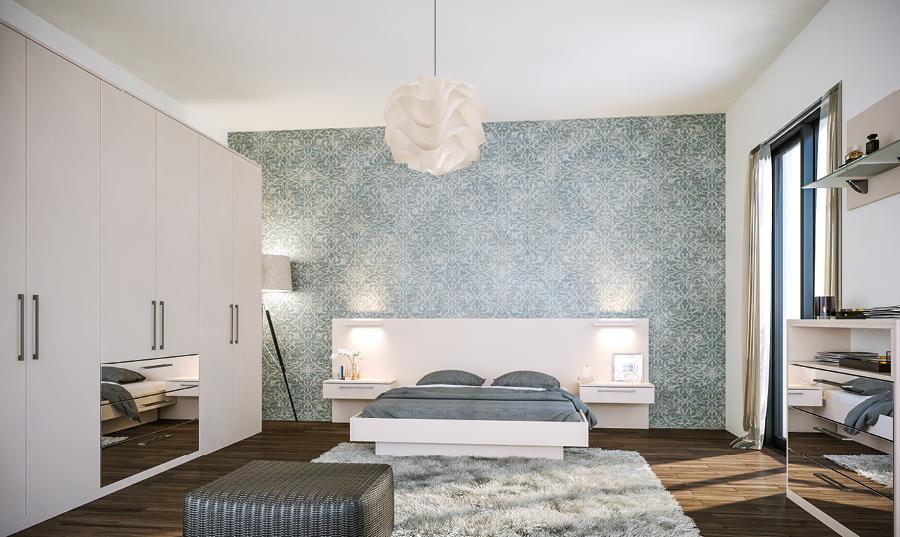 Zurfiz Supermatt Cashmere and Mirror Effect Bedroom