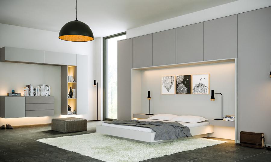Zurfiz Supermatt Dust Grey and Supermatt Light Grey Bedroom