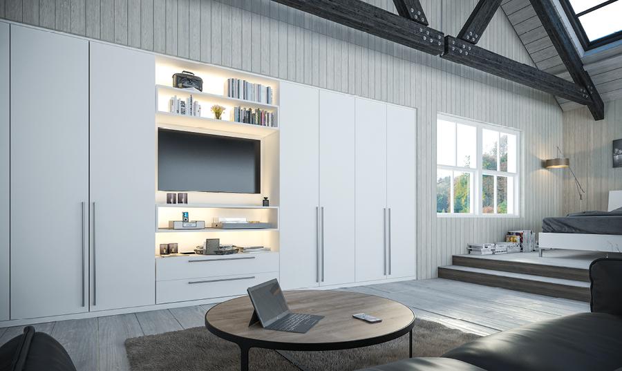 Zurfiz Supermatt White Bedroom