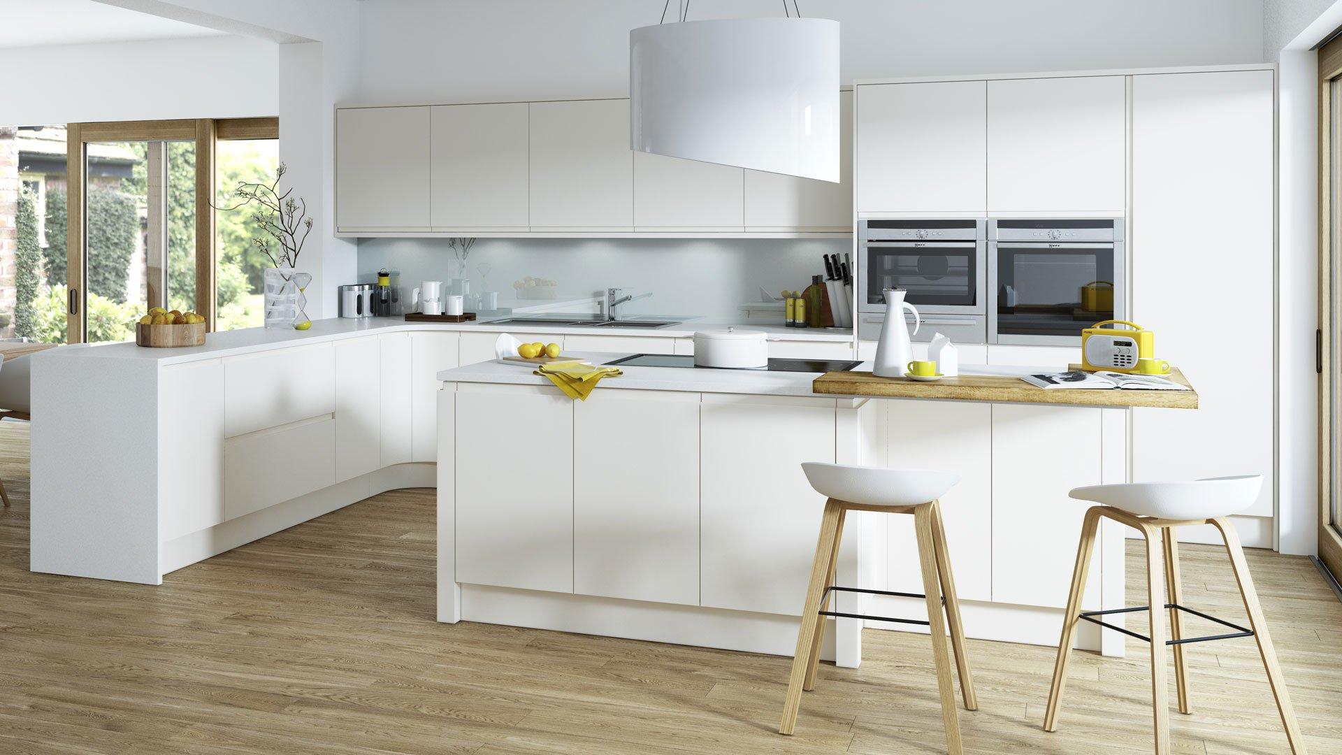 Multiwood Aconbury Matt - Porcelain Kitchen