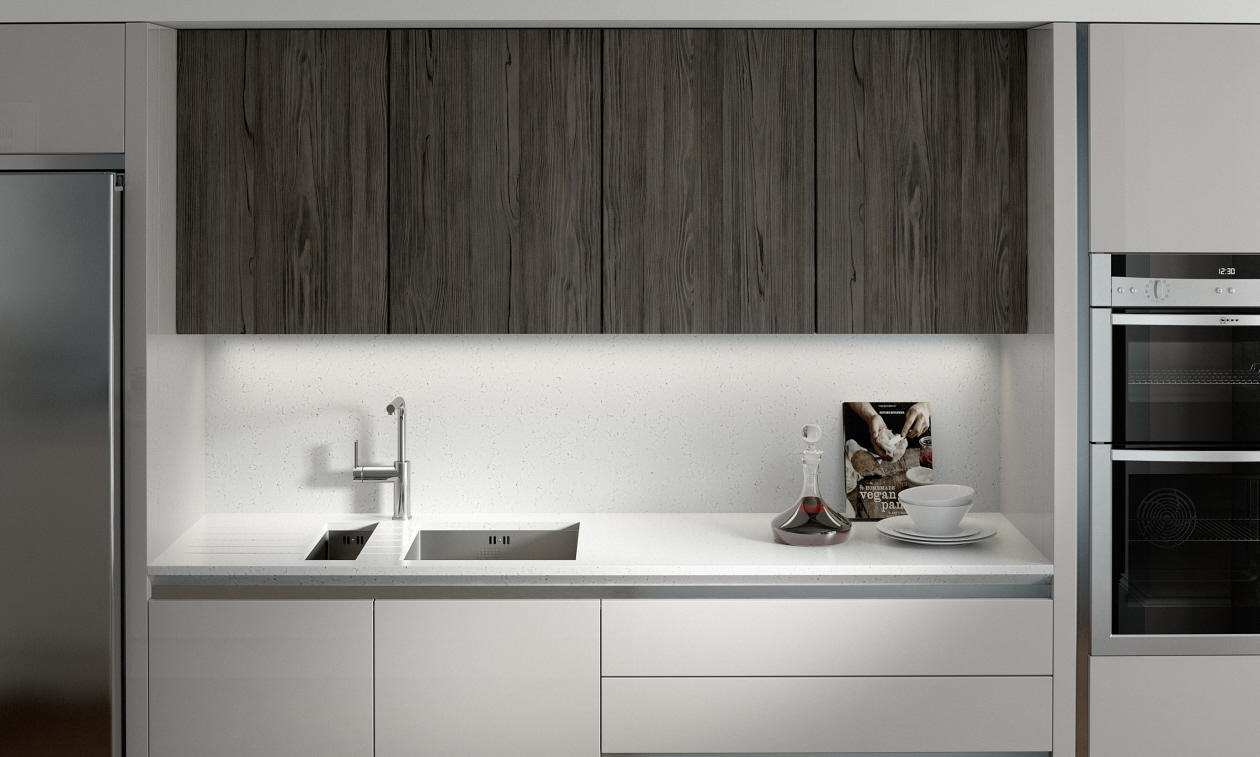 Second Nature Feature Character Graphite Kitchen