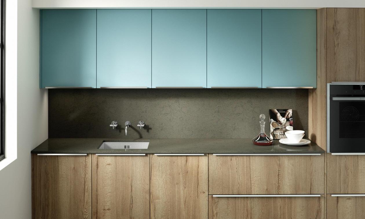 Second Nature Feature Chalk Blue Kitchen