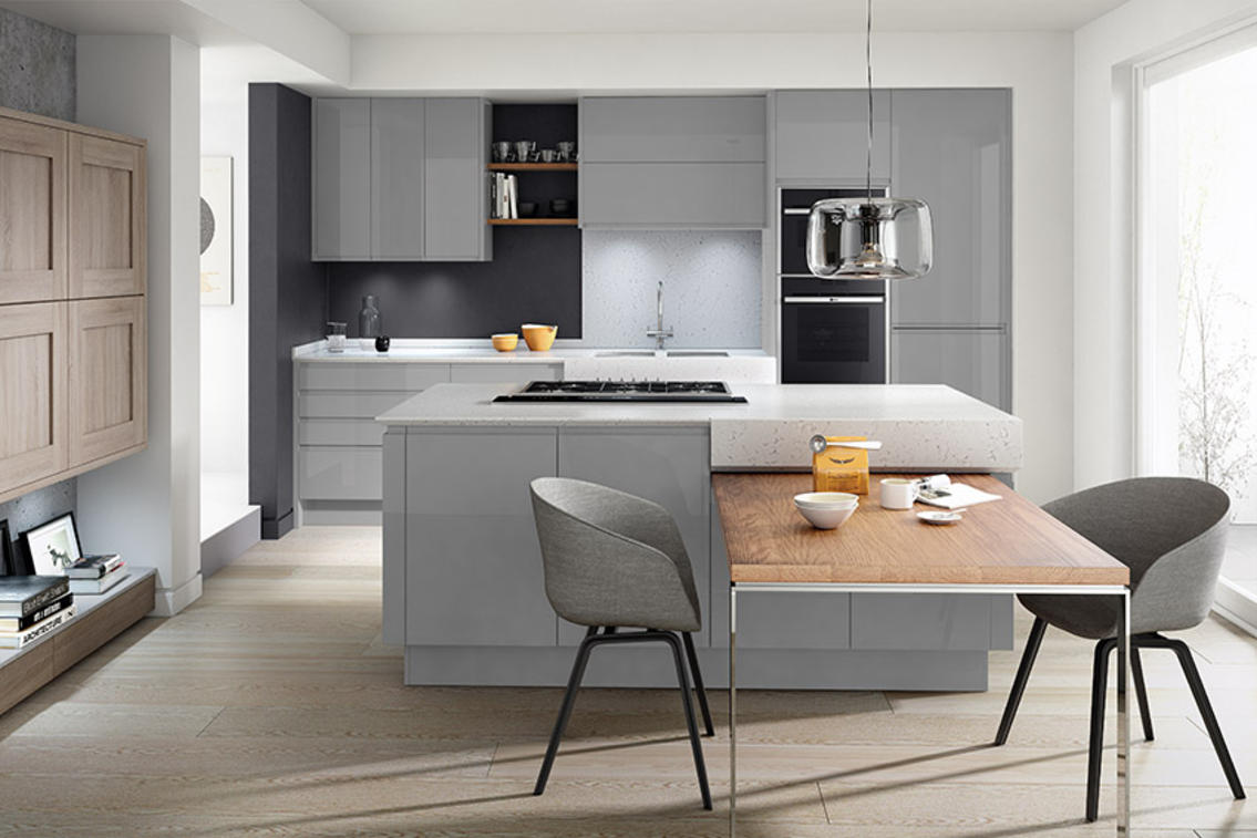 Second Nature Remo Silver Grey Kitchen