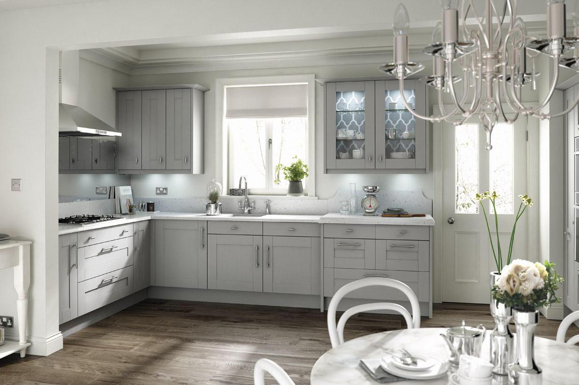 Second Nature Broadoak Partridge Grey Kitchen