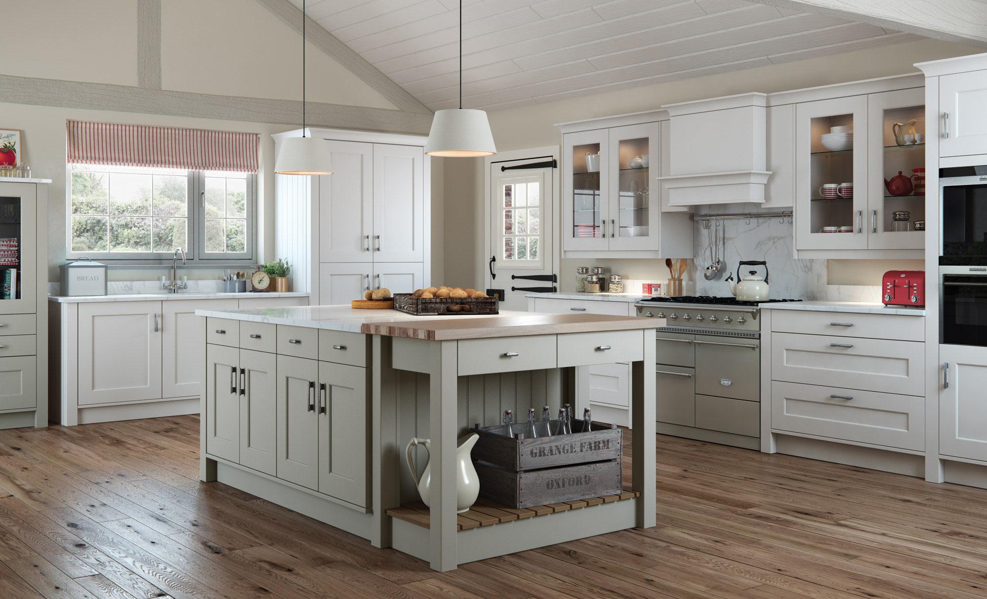 Uform Florence Stone & Light Grey Kitchen