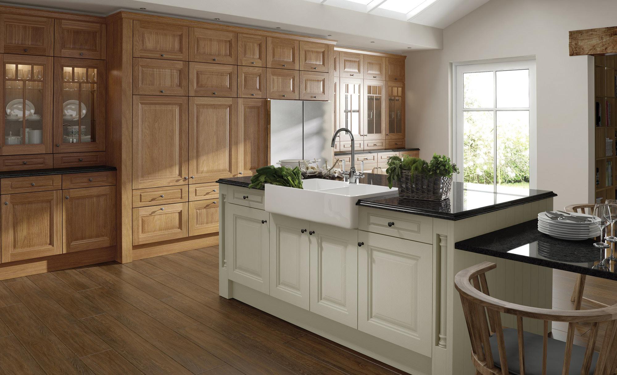 Uform Jefferson Oak & Ivory Kitchen