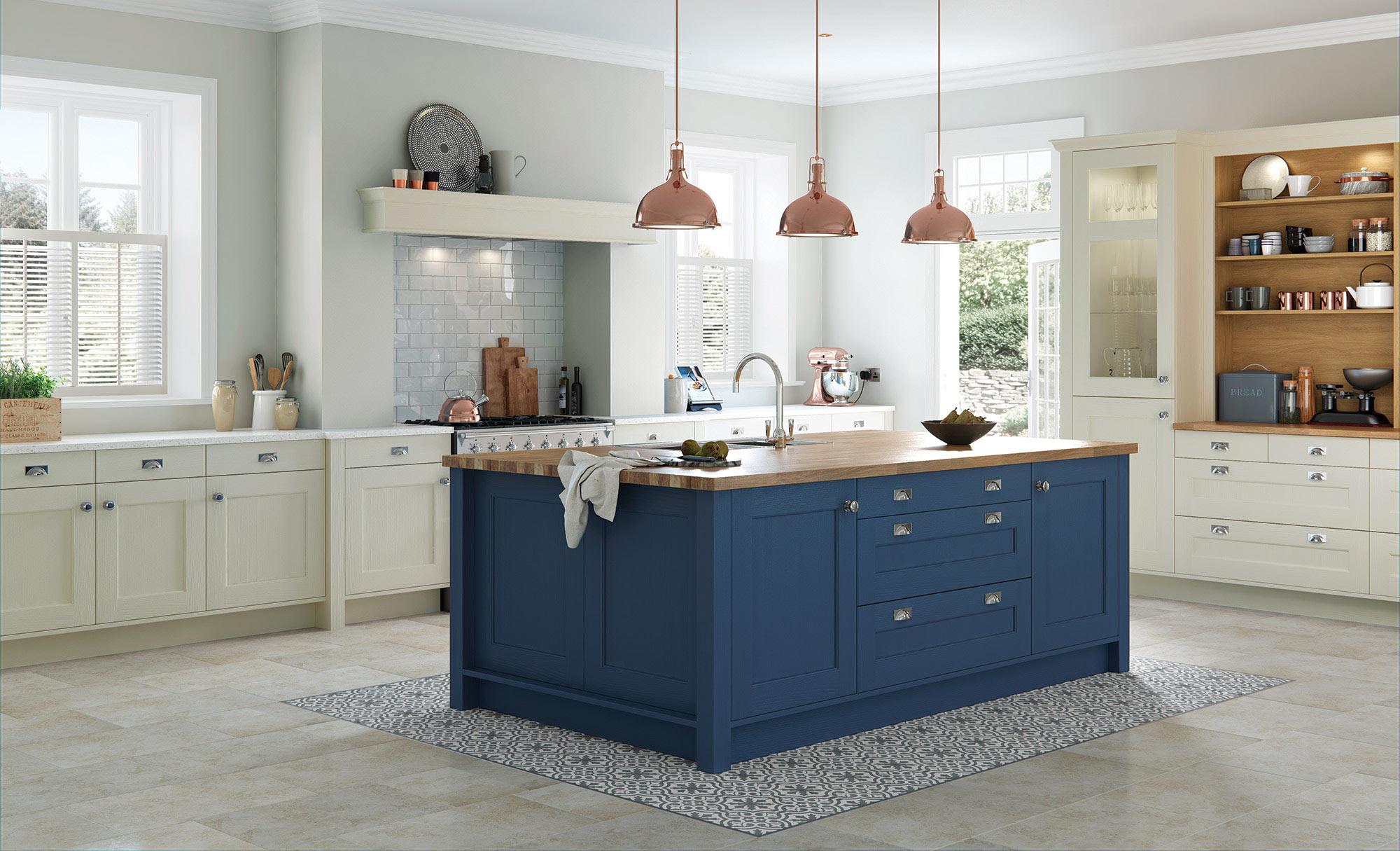 Uform Wakefield Mussel & Parisian Blue Kitchen