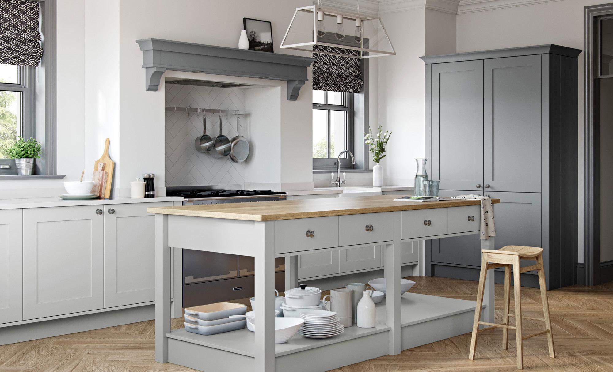 Uform Georgia Light Grey & Dust Grey  Kitchen