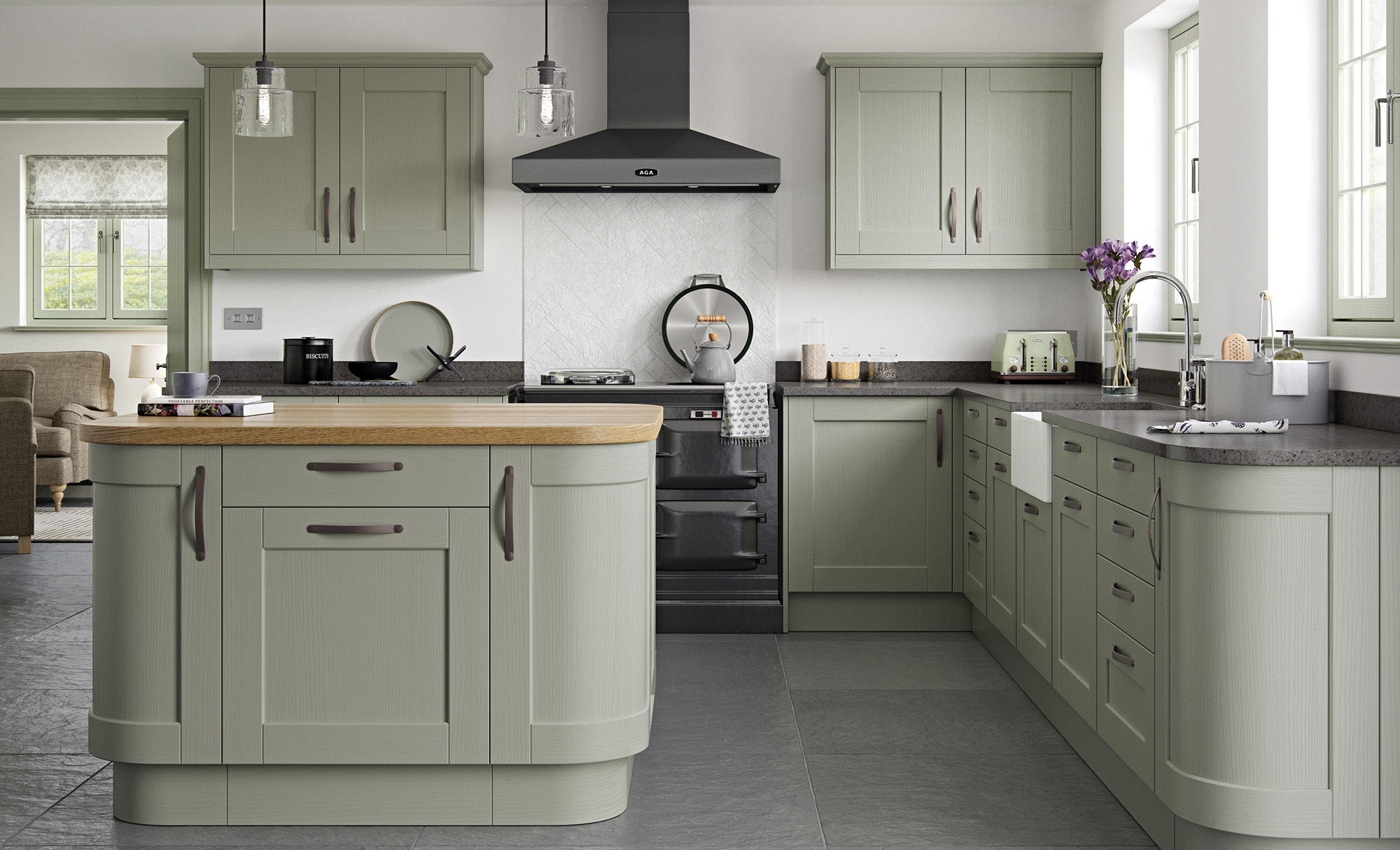 Uform Kensington Sage Green  Kitchen