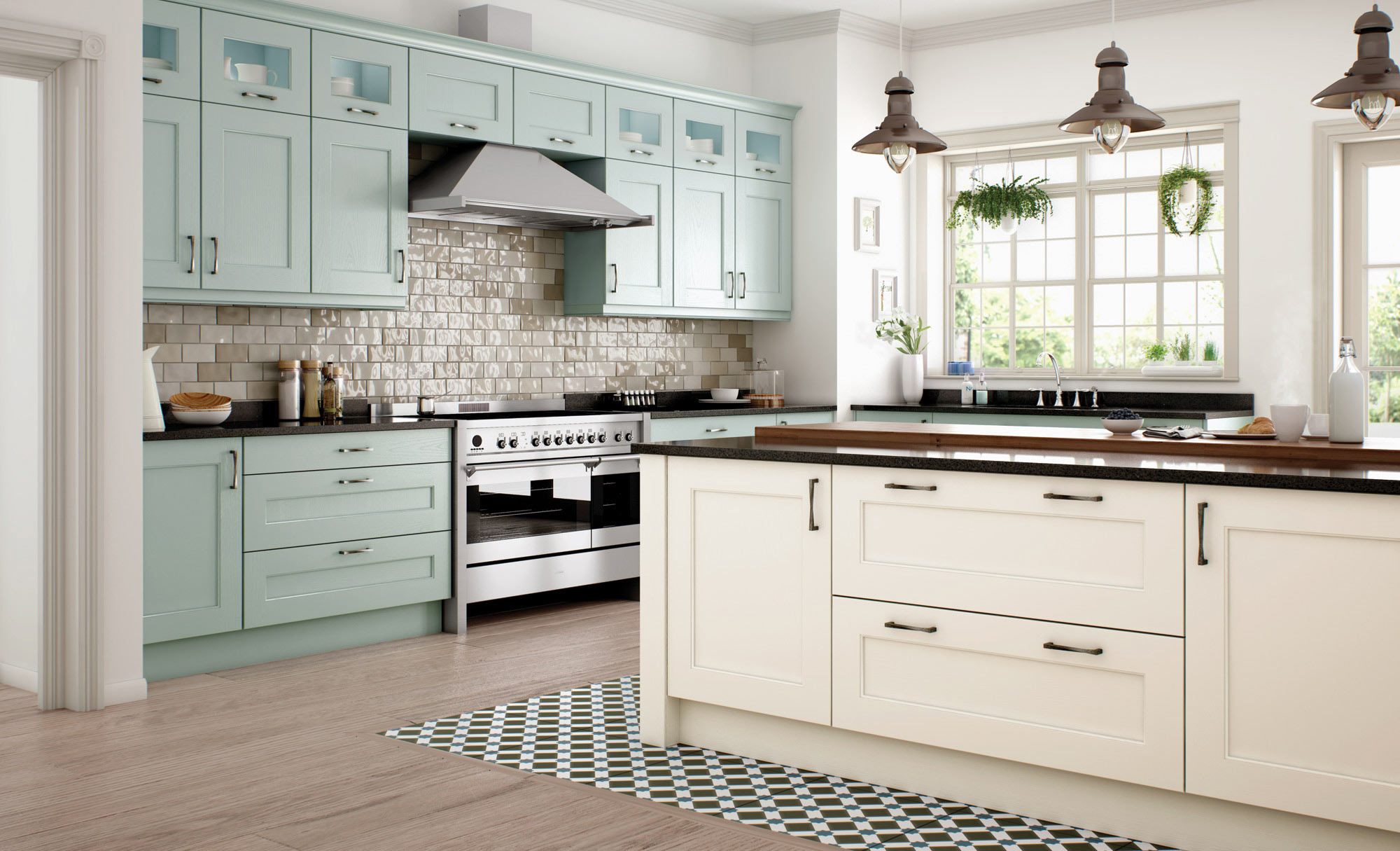 Uform Wakefield Ivory & Powder Blue Kitchen