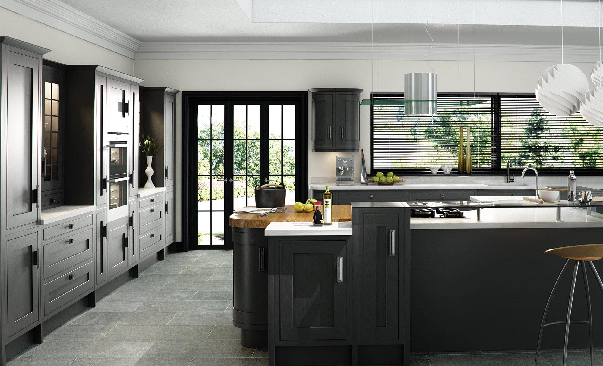 Uform Iona Oak Inframe Graphite Kitchen