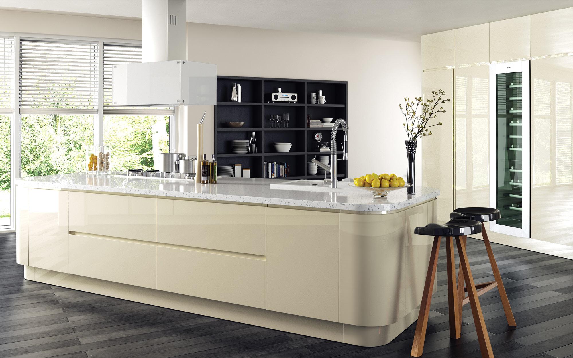 Uform Strada Gloss Ivory Kitchen