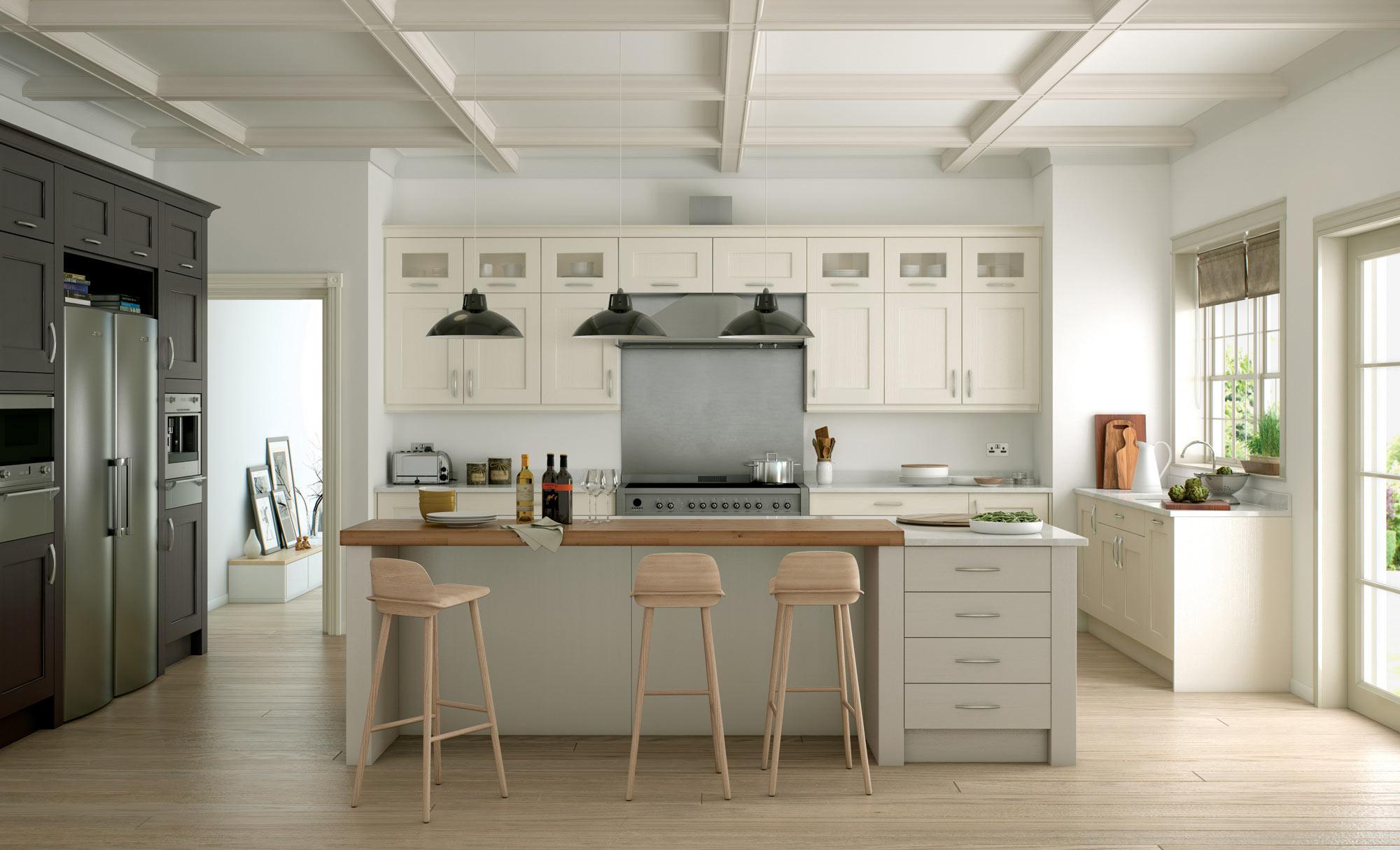 Uform Wakefield Ivory, Lava & Stone Kitchen