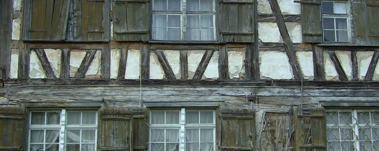 Picture of an Old Building with Timber