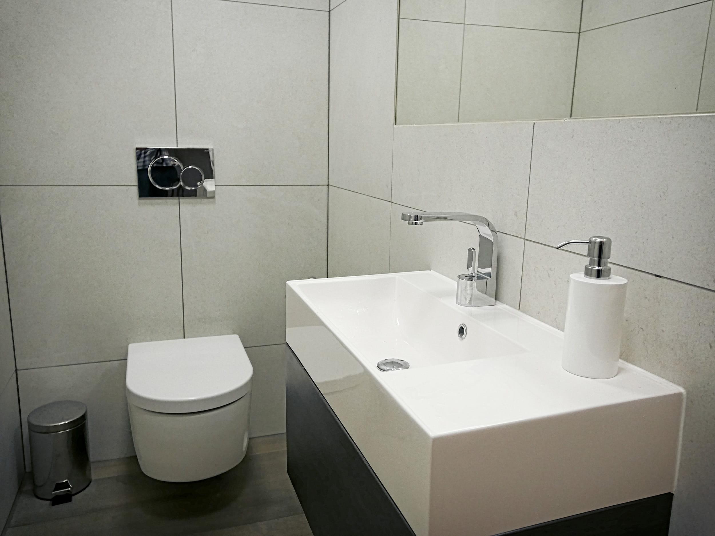 Bathroom in our TV training studio