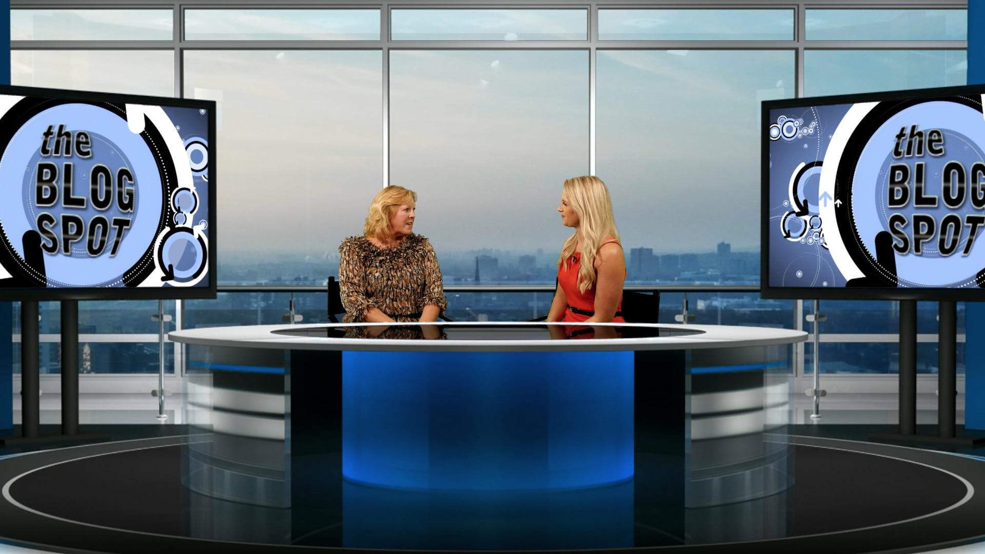 Multi-camera magazine show during TV host training, London