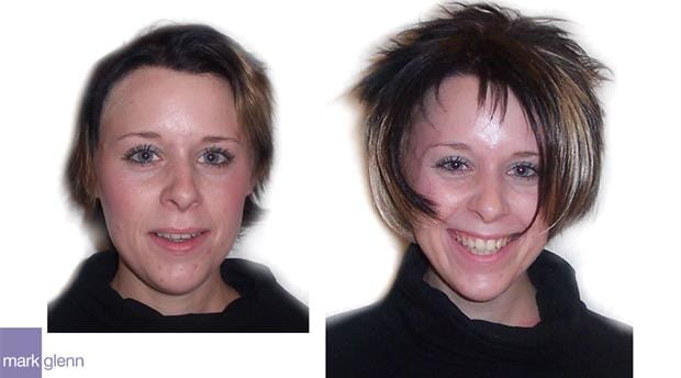 HE006 - Funky Hair Extensions Before and After - Mark Glenn, London