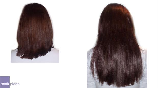 HE012 - Beautiful Silky Straight Hair Extensions Before & After - Mark Glenn Hair Enhancement
