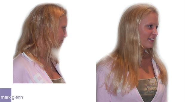HE018 - Home Bleaching Damage Repaired with Hair Extensions - Mark Glenn, London, UK