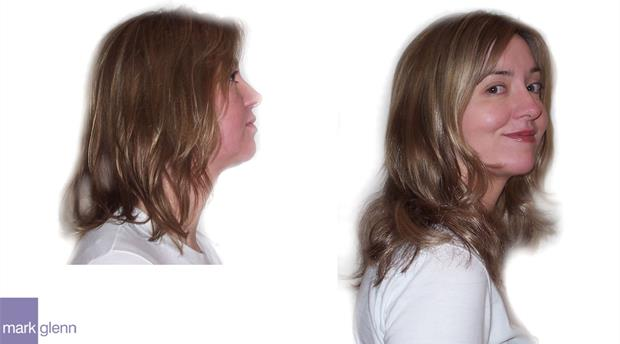 HE019 - Shoulder Length Hair Extensions Before & After - Mark Glenn, London