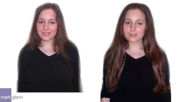 HE020 - Body Boost with Length Hair Extensions Before & After