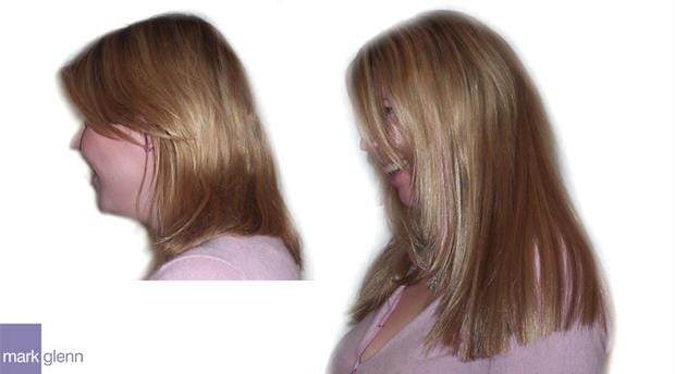 HE022 - Shoulder Length to Long Hair Extensions Before & After - Mark Glenn, London