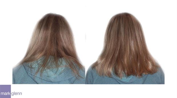 HE033 - Subtle Lift & Thicken Hair Extensions Before & After - Mark Glenn, London