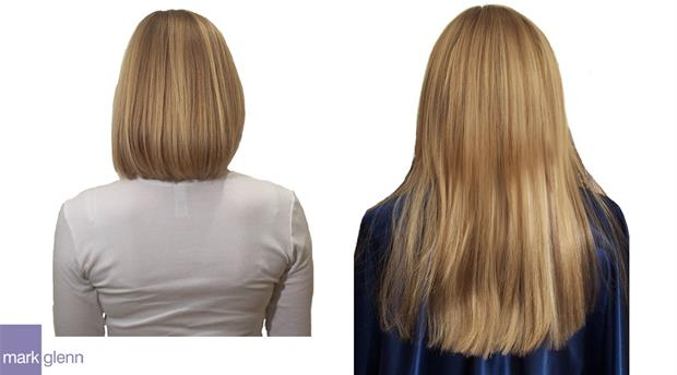 HE037 - Hair Extensions Before and After - Blunt Bob to Long Blonde - Mark Glenn, London
