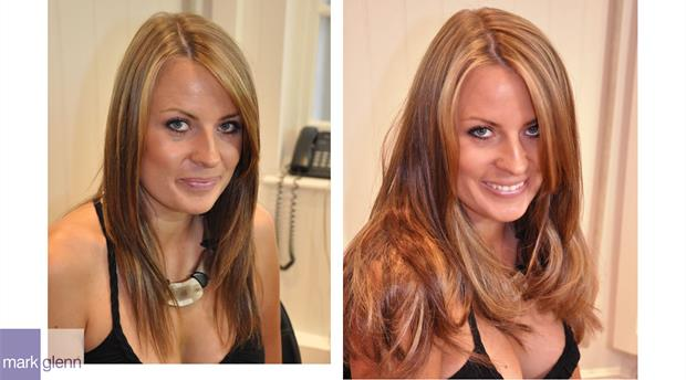 HE100 - Hair Extensions To Give Body & Life - Before & After
