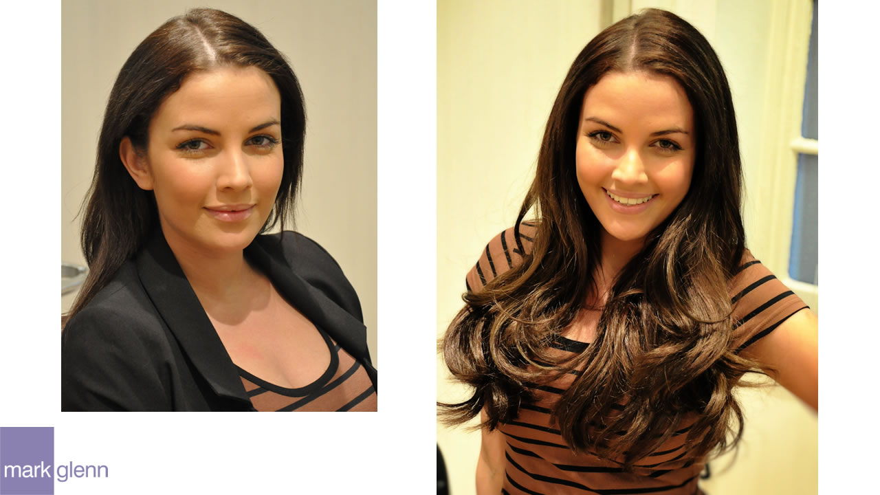 HE101 - Simply Stunning Hair Extensions With Mixed Race Hair - Before & After