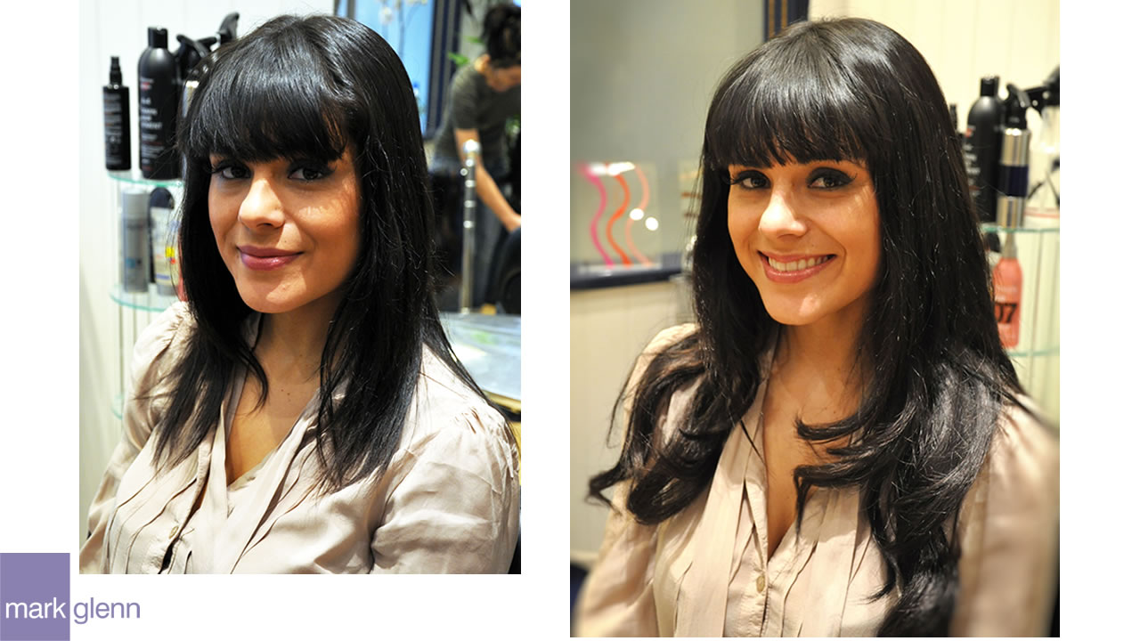 HE102 - Dark & Dreamy Hair Extensions Before & After
