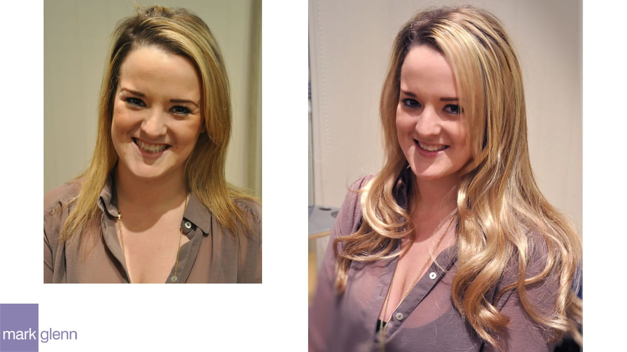 HE103 - Blonde & Lovely Hair Extensions Before & After
