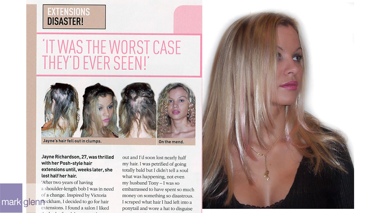 HL006-M - Human Hair Extension Damage Turnaround