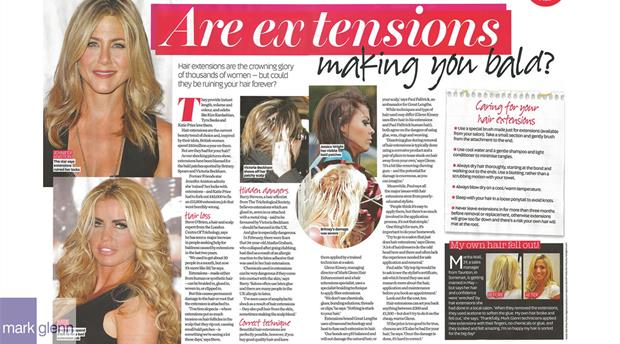 HL113 - Bad Hair Extensions Made Good - Before & After - Mark Glenn, London